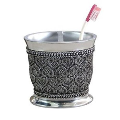 NuSteel BHT4H Beaded Heart Toothbrush Holder