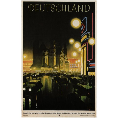 Advertising poster - Deutschland - High definition printing on stainless steel plate
