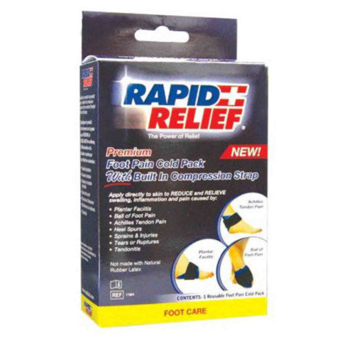 Rapid Relief Premium Foot Pain Cold Pack with Compression Strap