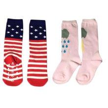 2 Pair Cute Baby's Cotton Tube Stockings Anti-mosquito Summer Thin Socks-No.15