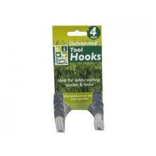 Pack Of 4 Galvanised Tool Hooks