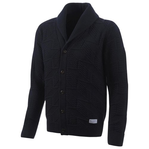 adidas Originals Men's FTBL Shawl Neck Cardigan Jumper Navy