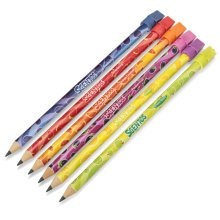Scentos Hb Pencils With Erasers 6pk - Scented Stationery 22554 Set 6 -  pencils scentos scented hb erasers stationery 22554 set 6