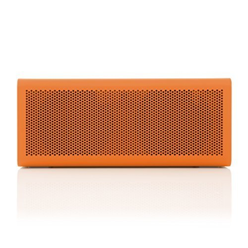 BRAVEN 805 Portable Wireless Bluetooth Speaker 18 Hour Playtime Built In 4400 mAh Power Bank Charger OrangeGray