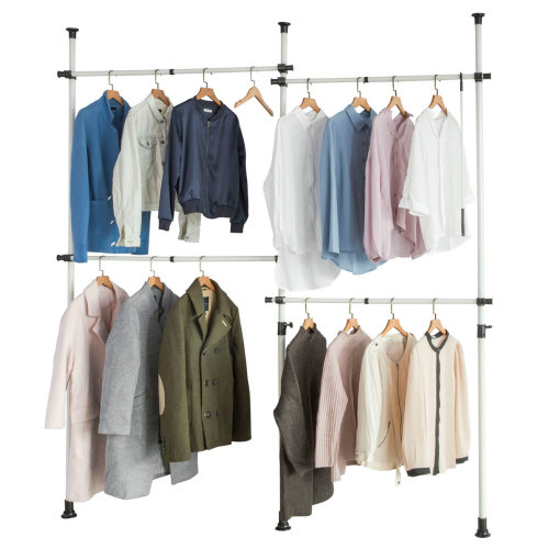 SoBuy® KLS03, Adjustable Hanging Rail Clothes Rack Telescopic Wardrobe