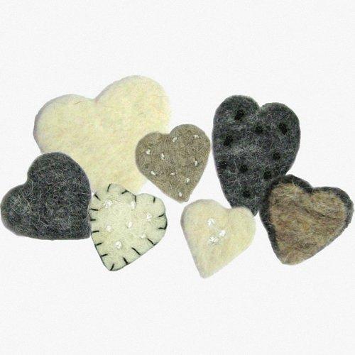 D72-73954 - Dimensions Wool Felt - Heart Mix