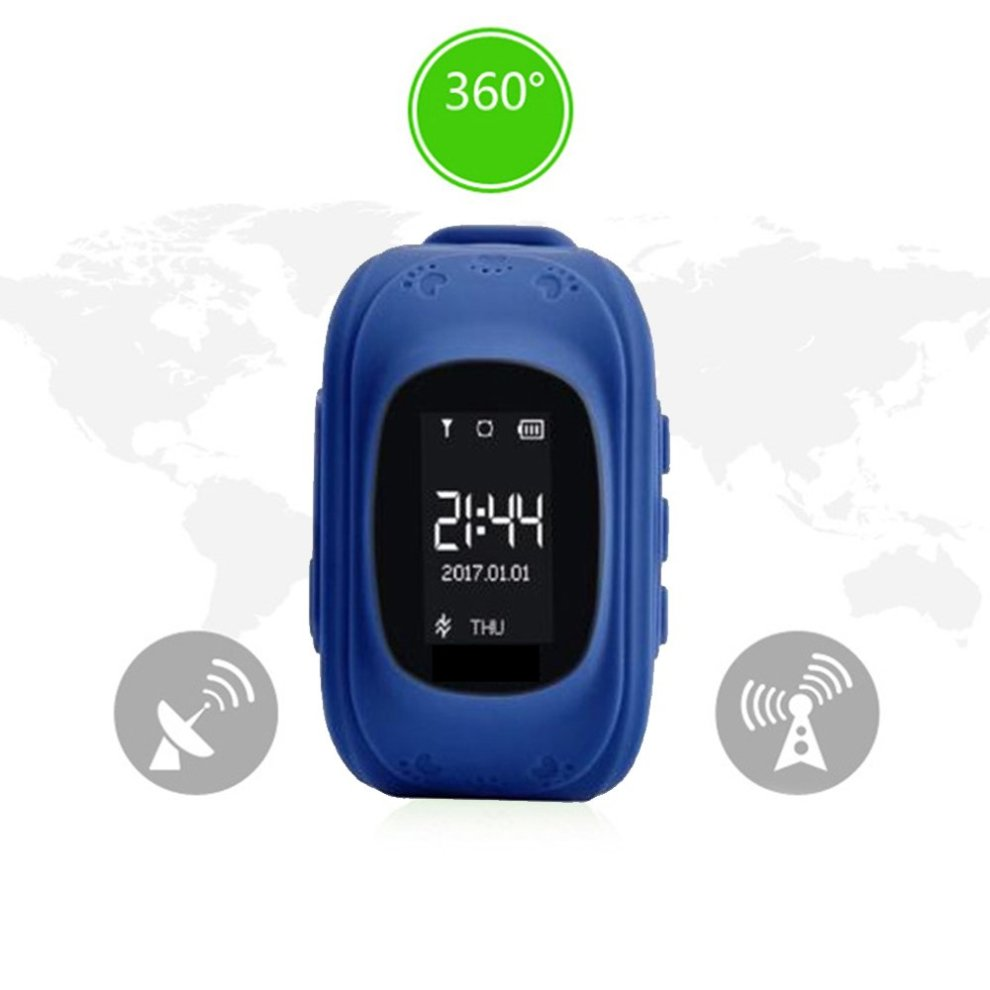 Kids Smartwatch GPS Tracker Anti-Lost Wrist SIM SOS Call Voice Chat Phone  Pedometer by Parent Control IOS Android Smartphone App (Palmtalkhome Q50)