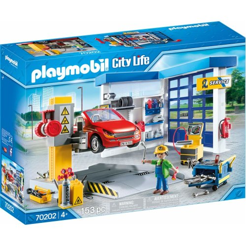 Playmobil 70202 City Life Car Repair Garage 153PC Playset