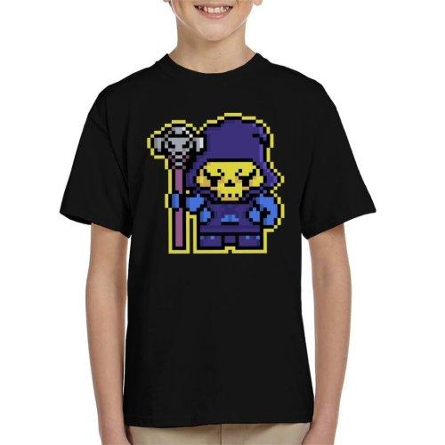 Pixel Skeletor Kid's T-Shirt