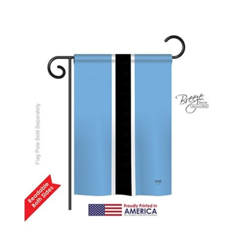 Breeze Decor 58209 Botswana 2-Sided Impression Garden Flag - 13 x 18.5 in.