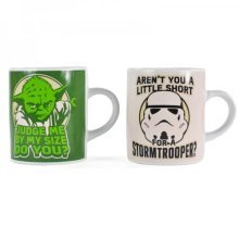 Star Wars Yoda And Stormtrooper Mini Mug Set