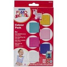 Staedtler - Fimo Kids Colour Pack, Girlie - 6 x 42g Blocks