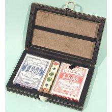 Poker set in black leatherette box 00840