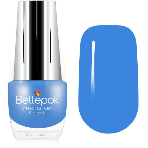 Bellepok 10-FREE Nail Polish - Baby Blue | Non-Toxic Blue Nail Varnish