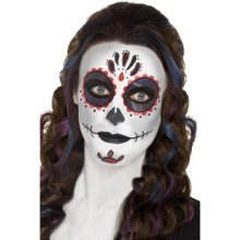 Smiffy's 44226 Day Of The Dead Make-up Kit With Face Paints (one Size) - Fancy -  day dead fancy dress halloween make up makeup face sugar skull