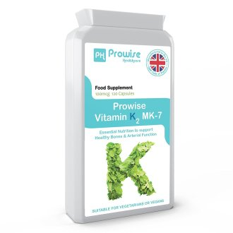 Prowise Vitamin K2 Mk-7 120 Capsules 100mcg UK Made
