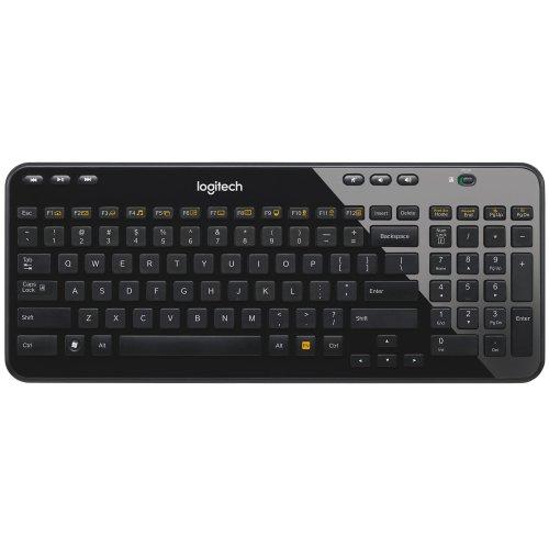 Logitech K360 Wireless Keyboard - Black, UK layout