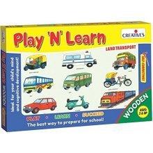 Creative Educational - Play'n' Learn – Land Transport - Play Cre0337 Game -  creative educational play learn land transport cre0337 game