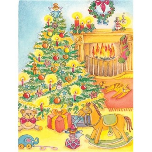 Toys Around the Christmas Tree Flag Canvas House Size