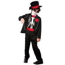 Kids Day of the Dead Zombie Skeleton Costume | Halloween