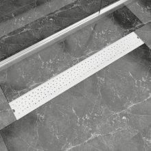 vidaXL Linear Shower Drain Bubble 930x140 mm Stainless Steel