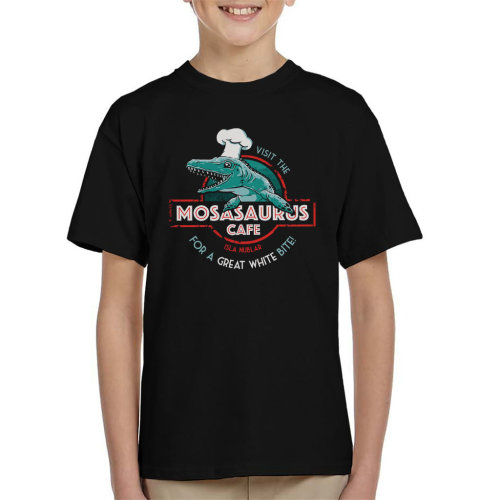 Mosasaurus Cafe Jurassic World Kid's T-Shirt