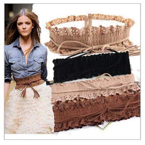 Hollow Fringed Thin Slim Skinny Belt Elastic Waist Belts Waistband for Women Girls High Waist designer belts cinto girdle Bands