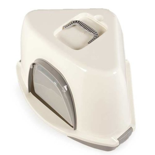 Corner Cat Litter Box with Door Durable Robust