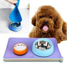 Durable Dog Cat Puppy Dish Bowl Food Feeding Mat Waterproof Non-slip Placemat