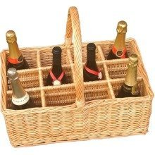 12 Bottle Wicker Drinks Basket