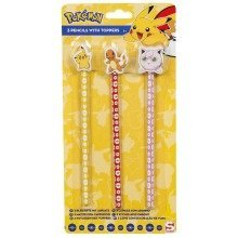 3pc Pokémon Pencils & Toppers