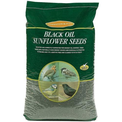 J&j Black Oil Sunflower Seeds 750g (Pack of 12)