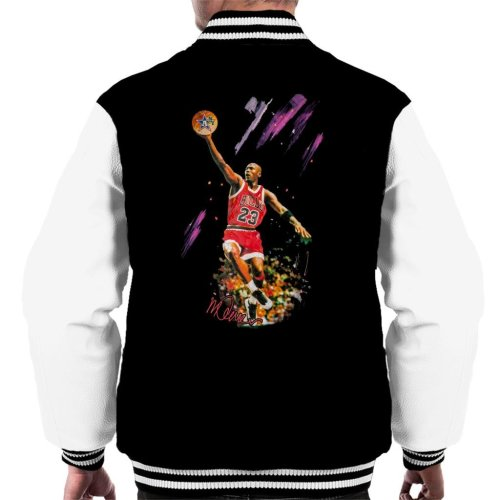 37873b457a8842 Sidney Maurer Original Portrait Of Bulls Star Michael Jordan Men s Varsity  Jacket on OnBuy