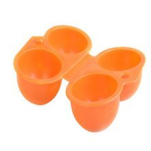Set of 2Orange Foldable Plastic Kitchen Egg Boxes/Egg Trays Two