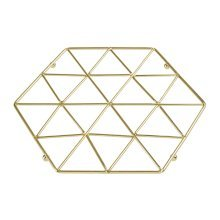 Vertex Gold Trivet | Geometric Gold-Tone Pan Rest