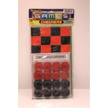 Travel Play Checkers Game