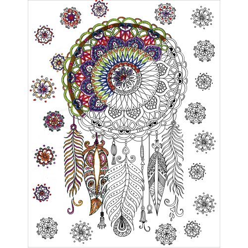 "Design Works/Zenbroidery Stamped Emrboidery Kit 14""X18""-Trendy Dream Catcher"