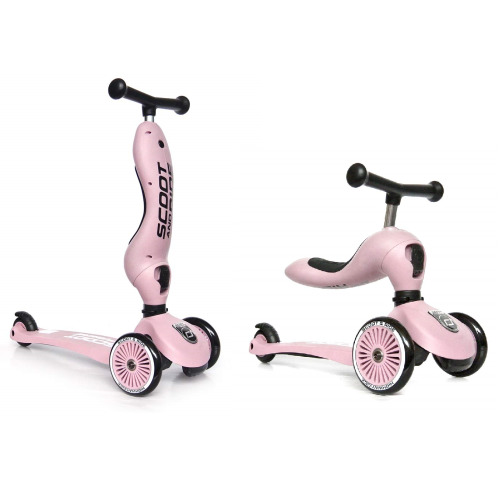 Scoot and Ride Highwaykick 1 2in1 Scooter Rose