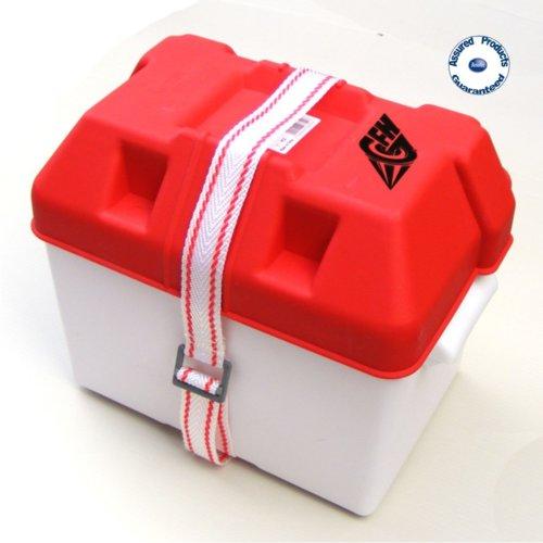 GFN BOAT BATTERY BOX And STRAP (Small) 180x270x200H mm – Boat/Caravan