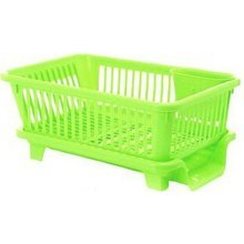 Kitchen Dish Rack Storage Rack Sink Grid/ Grid Tableware Rack Side Green
