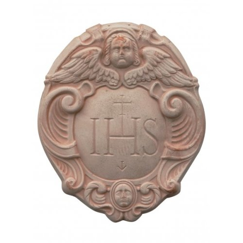 Tuscan Terracotta Made W40xdp5xh50 Cm Sized Aged Heraldic Coat Of Arms