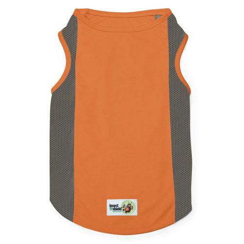Insect Shield Breathable Mesh Flea Tick Repellent Tank Vest, Orange
