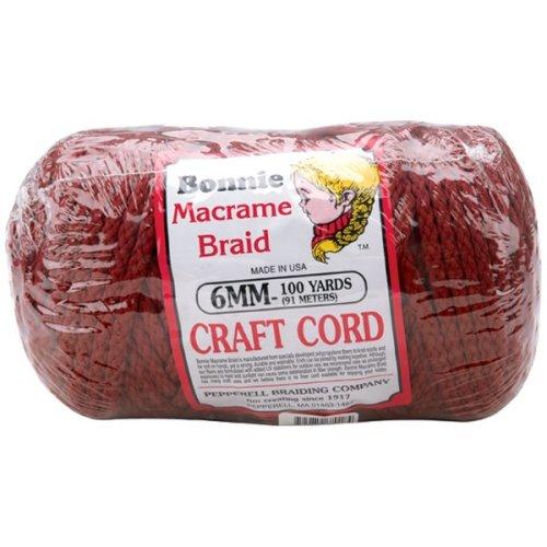 Bonnie Macrame Craft Cord 6mmX100yd-Wine