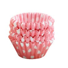 Baking Cups for Cupcakes Mini Cupcake Wrapper Maffin Cup 100 PCS-Pink