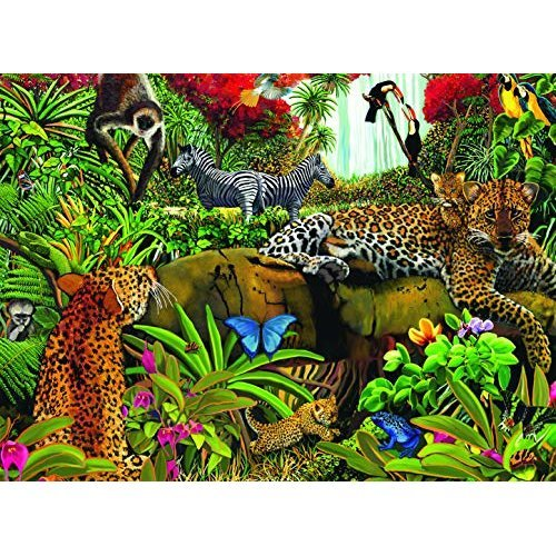 Ravensburger Wild Jungle 100 Piece Jigsaw Puzzle For Kids Every Piece Is Unique Pieces Fit Together Perfectly