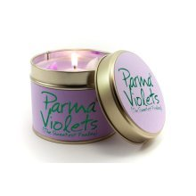 Lily Flame Candle in a Tin - Parma Violet