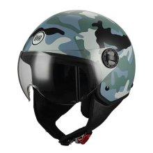 BHR Helmet Moto Demi-Jet Line One 801, Camouflage Grey XS (54cm)