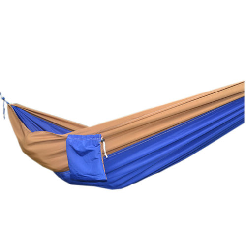 "Creative Canvas Color Matching Hammock Foldable Hammock 102*55"" Camel&Blue"