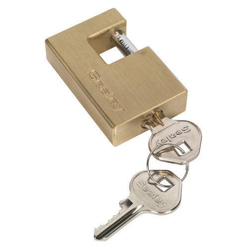 Sealey PL207 56mm Brass Shutter Padlock
