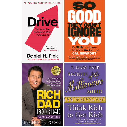 Drive, Millionaire Mind, So Good, Rich Dad, 4 Books Collection Set